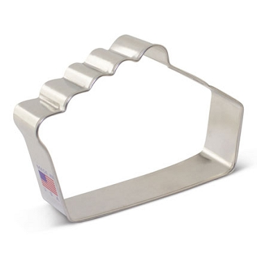 Pie Slice Cookie Cutter 4.5 inch by Ann Clark